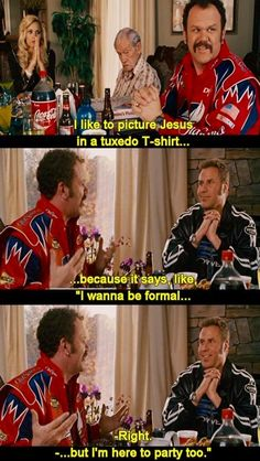 Talladega Nights: The Ballad of Ricky Bobby Murphy Murphy Benson Funny Movies, Comedy Movies, Great Movies, Comedy Movie Quotes, Talladega Nights Quotes, Love Movie, Movie Tv, Movies Showing, Movies And Tv Shows