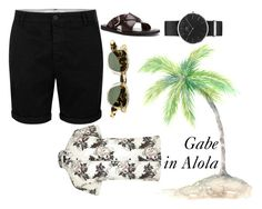 """""""Gabriel 1"""" by paula-maria-cobos on Polyvore featuring River Island, Topman, Donald J Pliner, Jacques Marie Mage and Daniel Wellington"""