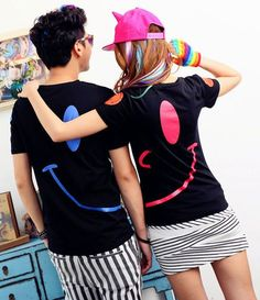 Hot New Summer Short Sleeve Cotton Couple T-shirts  $10.25