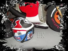 Fofucha casco de Marc Marquez, piloto de moto de GP/ Marc Marquez Fofucha helmet, bike rider GP
