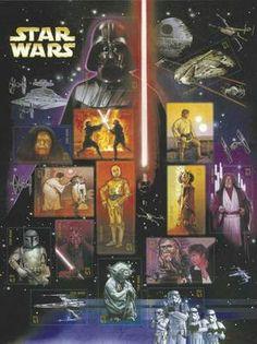 2007 41c Star Wars Movies, Miniature Sheet of 15 Scott 4143 Mint F/VF NH