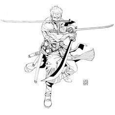 One Piece Comic, Zoro One Piece, One Piece Anime, Roronoa Zoro, Boy Illustration, Character Illustration, One Piece Zorro, Panzer Tattoo, Tatuagem One Piece