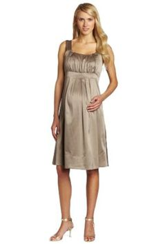 7b3b02f79862 Ripe Maternity Women s Alexis Satin Dress Cappuccino Small