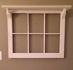 Six Pane Window Frame with Top Shelf on Etsy, $125.00