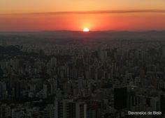 Pôr do sol no Mirante das Mangabeiras, em Belo Horizonte