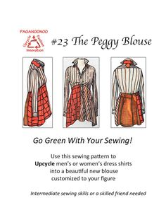 The best DIY projects & DIY ideas and tutorials: sewing, paper craft, DIY. DIY Clothing & Tutorials Upcycled sewing pattern transforms men's shirts to by Paganoonoo -Read Diy Clothes Refashion, Diy Clothing, Sewing Clothes, Sewing Men, Sewing Hacks, Sewing Projects, Sewing Tutorials, Sewing Ideas, Sewing Crafts