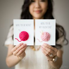 Cute Valentine's Day card idea by All About Ami! WOOL You Be My Valentine?