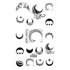 Sun, Star and Moon Tattoo Designs with meaning for on wrist, back, finger or behind the ear. Small full or half moon tattoo designs for Guys and Girls. Moon Star Tattoo, Half Moon Tattoo, Small Moon Tattoos, Star Tattoos, Wrist Tattoos, Finger Tattoos, Back Tattoo, Body Art Tattoos, Tattoo Small