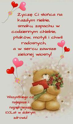 Birthday Cheers, Happy Birthday Wishes, Birthday Cards, Teddy Bear, Skinny, Teddy Bear Hug, Polish Sayings, Destinations, Bday Cards
