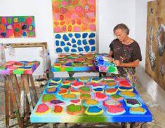Portrait of Ashley Bickerton in Bali. Courtesy of The FLAG Art Foundation. Painters Studio, Wooden Painting, Flag Art, Famous Art, Henri Matisse, Art Of Living, The Life, Art Studios, Art Google