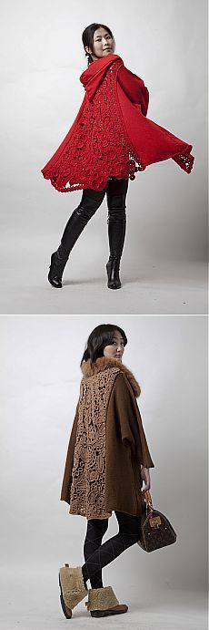 Оригинальное пальто: ткань+ирландское кружево.