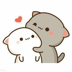 Cute Anime Cat, Cute Bunny Cartoon, Cute Kawaii Animals, Cute Cartoon Pictures, Cute Love Pictures, Cute Love Memes, Cute Love Gif, Cute Cat Gif, Cute Love Cartoons