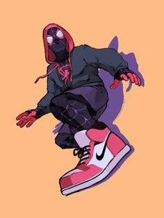 "Okay so To all my spidey fans look up ""Spiderman: Into the Spiderverse"" if you havn't already. I was ecstatic as I am both an animation and Spiderman enthusiast + we get MILES IN THESE SICK. Hq Marvel, Marvel Fan Art, Marvel Films, Marvel Dc Comics, Anime Comics, Marvel Heroes, Comic Book Characters, Marvel Characters, Comic Character"