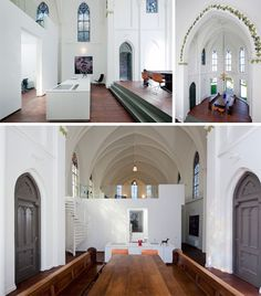 House of Worship: old stone church hides brand new home Chapel Conversion, Church Conversions, Church Architecture, Modern Architecture, Architecture Board, Transformers, Retreat House, Cosy Corner, Gothic House