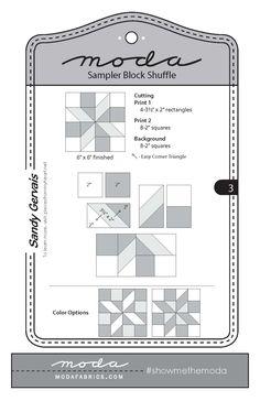 Make a Quilt with MODA's Sampler Block Shuffle! | Fiddlehead Artisan Supply Blog