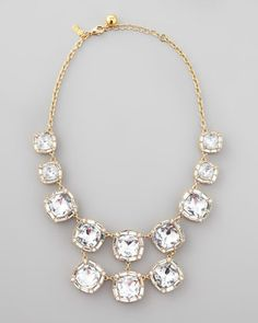 Kate Spade crystal bib necklace #wedding #jewelry