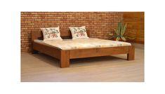 Dřevěná postel manželská, 140,160, 180 x 200 cm, L6 - Nábytek Mirek