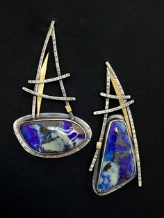 Miss Matched Boulder Opal Earrings