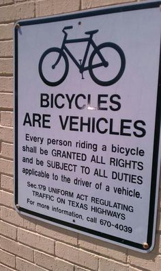 Share the road, y'all.