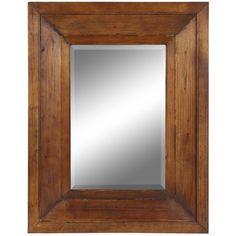 Cooper Classics Canon Mirror in Distressed Natural Rustic Wood $258.00