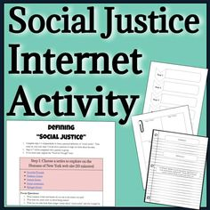Build a foundation for students' understanding of social justice as they explore current and engaging visual and written texts via links…