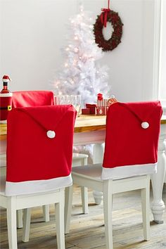 santa chair covers australia wheelchair lift repair 96 best xmas images aussie christmas dinner hats to cover even the dining room chairs a shame they re sold