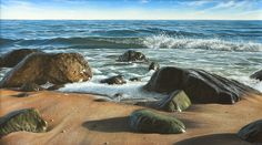 Kai Fine Art is an art website, shows painting and illustration works all over the world. Beautiful Landscape Paintings, All Over The World, Marines, Kai, Beach Mat, Outdoor Blanket, Fine Art, Illustration, Water
