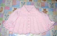 Ravelry: Beautiful vanilla cream...baby matinee jacket, bonnet bloomers and shoes pattern by Karen Ashton-Mills