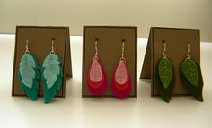 felt earring designs