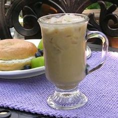 Breakfast And Brunch, Saras Iced Coffee, Lightly Sweetened Iced Coffee With Just A Hint Of Vanilla. Coffee Creamer, Coffee Cake, Hot Coffee, Coffee Drinks, Coffee Shop, Frozen Coffee, Decaf Coffee, Coffee Menu, Coffee Poster