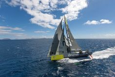 Photo by Sander van der Borch/Team Brunel Volvo Ocean Race, Sea Sports, Sail Racing, Wooden Boats, Catamaran, Victorious, Sailing, Old Things, Water