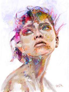 "Saatchi Art Artist yossi kotler; Painting, ""yearning"" #art"