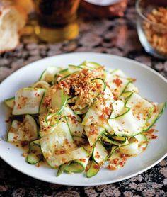... | Zucchini Ribbon Salad, Lemon Zucchini Bread and Lemon Mousse
