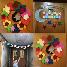 Wall decorations Eid Crafts, Ramadan Crafts, Ramadan Decorations, Diy And Crafts, Wall Decorations, Crafts For Kids, Ramadan Activities, Toddler Activities, Activities For Kids