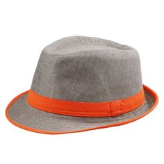 24c7a08138f781 56-58cm -Casual Mode pour Unisexe Femme Homme Eté Plage Soleil Voyage  (Orange Bande)  Amazon.fr  Vêtements et accessoires