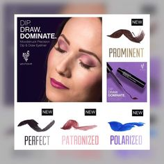 Want the perfect wing ?? Sept first younique releases there dip and draw eyeliner with two limited edition colours:)