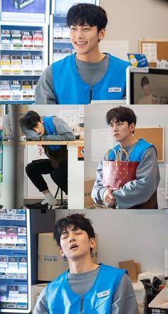 Kim Yoo Jung and Ji Chang Wook Bring Smiles to the Convenience Store Job in New Stills for SBS Drama Backstreet Rookie Ji Chang Wook Abs, Ji Chang Wook Smile, Ji Chang Wook Healer, Ji Chan Wook, Asian Actors, Korean Actors, Ji Chang Wook Photoshoot, Hyun Ji, Korean Tv Series