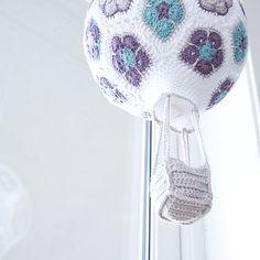 Crochet African Flower Hot Air Balloon. FREE TUTORIAL 5/15