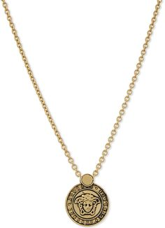 Versace Logo pendant necklace men's fashion and style