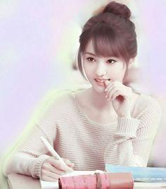 Beautiful Girl Facebook, Beautiful Anime Girl, Beautiful Girl Image, Cute Girl Poses, Cute Girl Photo, Cute Girls, Cute Girl Drawing, Cartoon Girl Drawing, Cartoon Art
