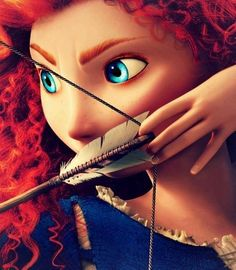 "Princess Merida voiced by Kelly MacDonald in ""Brave"""