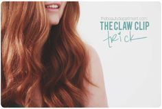 Beauty Department claw clip || how to preserve your waves during the night