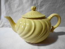 Vintage Franciscan Ware Yellow Teapot California Pottery