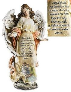 Guardian Angel with Children Prayer Statue Figures of Faith – Beattitudes Religious Gifts