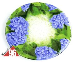 Fused Glass Hydrangea Platter