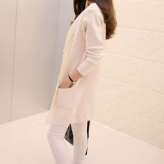Free Shipping 2015 Spring and Autumn Women's Top Medium-long Cardigan Outerwear Sweater