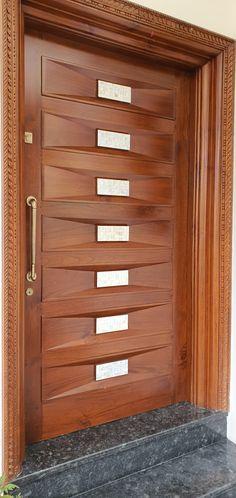 Modern Entrance Door, Main Entrance Door Design, Wooden Front Door Design, Modern Wooden Doors, Wooden Front Doors, House Main Gates Design, Home Door Design, Door Gate Design, Door Design Interior