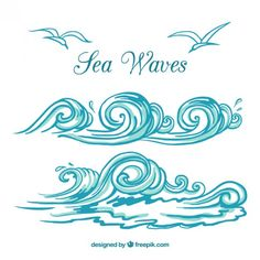 Sea waves Free Vector