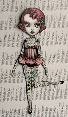 You Are So Special - The Amazing Tattooed Girl - fully assembled articulated paper doll by Mab Graves $12 ...I want her!!!