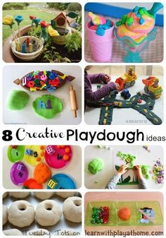 Learn with Play at home: 8 Creative Playdough ideas for kids